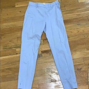 Light blue crop slacks